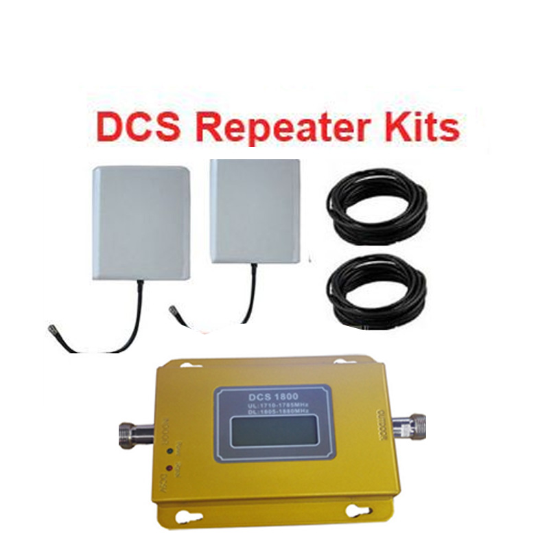 DCS 1800Mhz Booster Kits W/ 2 Pannel Antenna+15M Of Cable,DCS Repeater Kits 1800Mhz Signal Amplifier