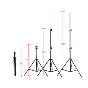 Image 3 - Photography 2 * 3m / 6.6 * 9.8ft Photo Studio Kit Adjustable Background Support Stand Photo Backdrop Crossbar Kit with two Clamp