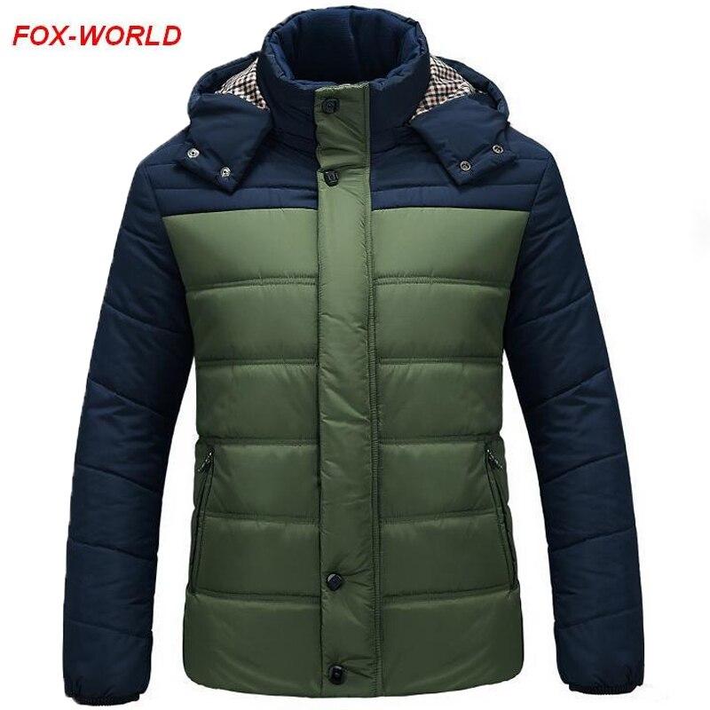 Ücretsiz Kargo Yeni Moda Erkekler Kış Ceket Erkekler Pamuk Sıcak Ceket Fermuar Parkas Dış Giyim Giymek Rahat Kalın Ceket 3 Renk