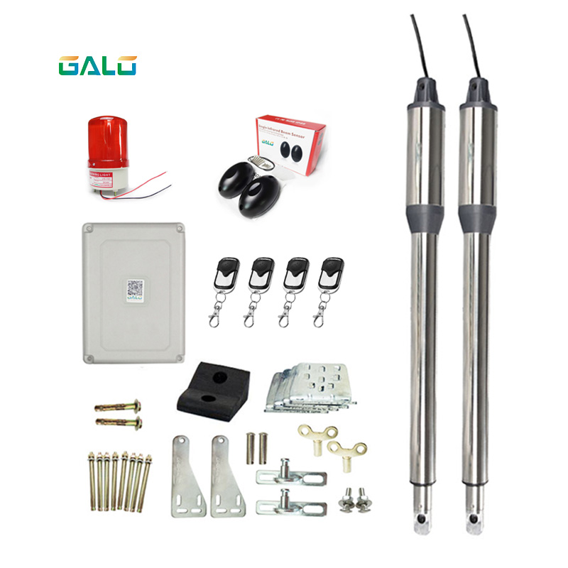 Galo 24VDC Linear Actuator Automation Swing Gate Motor Kits For Outdoor Gates Solar Swing Gate Opener System