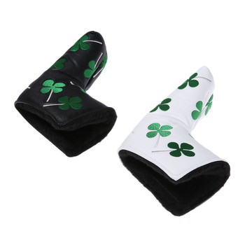 1PC Clover Golf Club Head Covers For  Iron Putter Protective Cover Headcovers Set PU Leather Portable Accessories