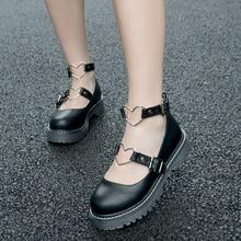 LoveLive/Обувь для учащихся; Студенческая обувь в стиле Лолиты для колледжа; JK; форменная обувь из искусственной кожи; обувь с лаком в форме сердца; 3 цвета