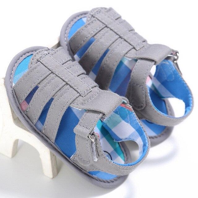 2017 Summer New Boys Soft Leather Beach Children Sandals Leather Sandals Baby Boys Shoes Soft Sole  YD212