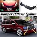 Auto Splitter Diffusor Stoßstange Canard Lip Für Chrysler Aspen Tuning Body Kit/Vordere Deflector Auto Reduzieren Klappe Fin Kinn Refit-in Bodykits aus Kraftfahrzeuge und Motorräder bei