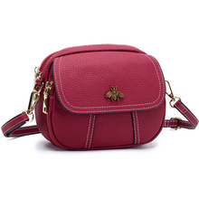 Multi Compartment Messenger Bag Women Small Sac Main Femme Crossbody Ladie Shoulder Red Mobile Phone Pocket Genuine Leather