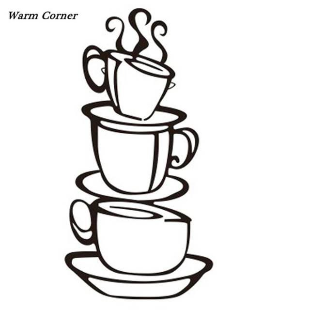 Warm Corner Lm Removable Diy Kitchen Decor Coffee House Cup Decals