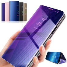 Clear View Smart Mirror Flip Case for Huawei P30 P20 Pro Mate 20 10 Lite P Smart Plus Y9 2019 Nova 4 3 3i Honor V20 7A 8X Cover(China)