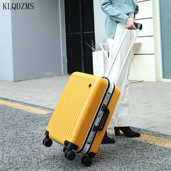 KLQDZMS 20/24inch aluminum frame+pc rolling luggage 20/24inch travel suitcase spinner  trolly bag on wheel