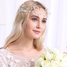 Miallo   Romantic Pearl with  Rhinestone Hair Vine Jewelry Headband   Wedding Hair Accessories 2016 design