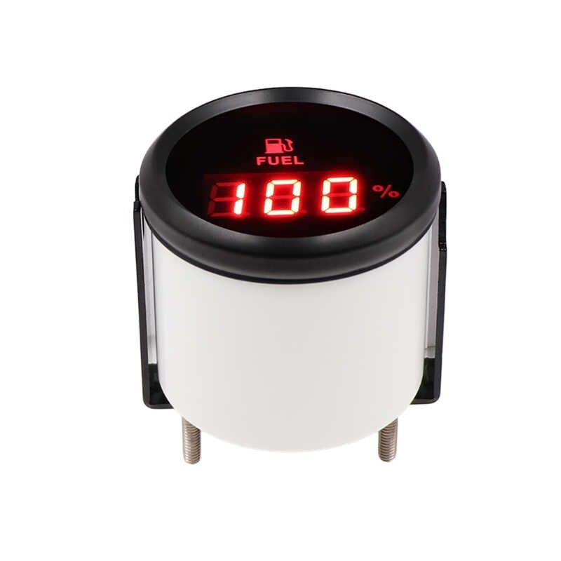 52mm Digital Fuel Level Gauge Meter For Boat RV Car Motorcycle 0-190ohm 240-33ohm Signal 12V/24V