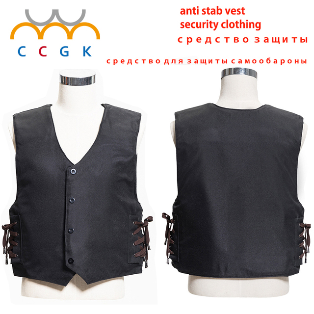 2017 new 1 story stab resistant vest soft self-defense V-neck lightweight civilian use schutzweste tatico anti covert stab vest