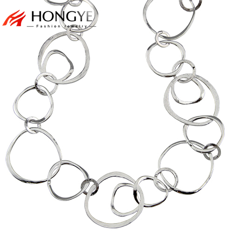 Long Hoop Shiny Gold / Silver Chain Necklaces collier femme women accessories bijoux Statement necklace women believer uav 1960mm wingspan epo portable aerial survey aircraft rc airplane kit best designed mapping platform as clouds