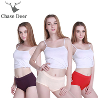 2017 Panties Women New Brand Chase Deer Cotton Quality Ladies Underwear Pink Red Solid Briefs Suitable