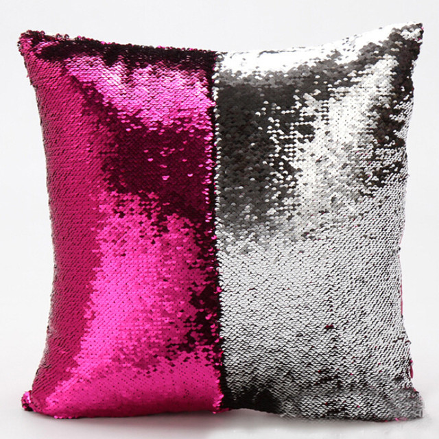 Us 252 13 Offsequins Pillowcase Diy Two Tone Glitter Throw Pillows Poszewki Covers Na Poduszki Dekoracyjne Cushion Pillow Cover S In Pillow Case