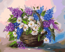 "DIY Painting By Number – Flower Basket (16""x20"" / 40x50cm)"