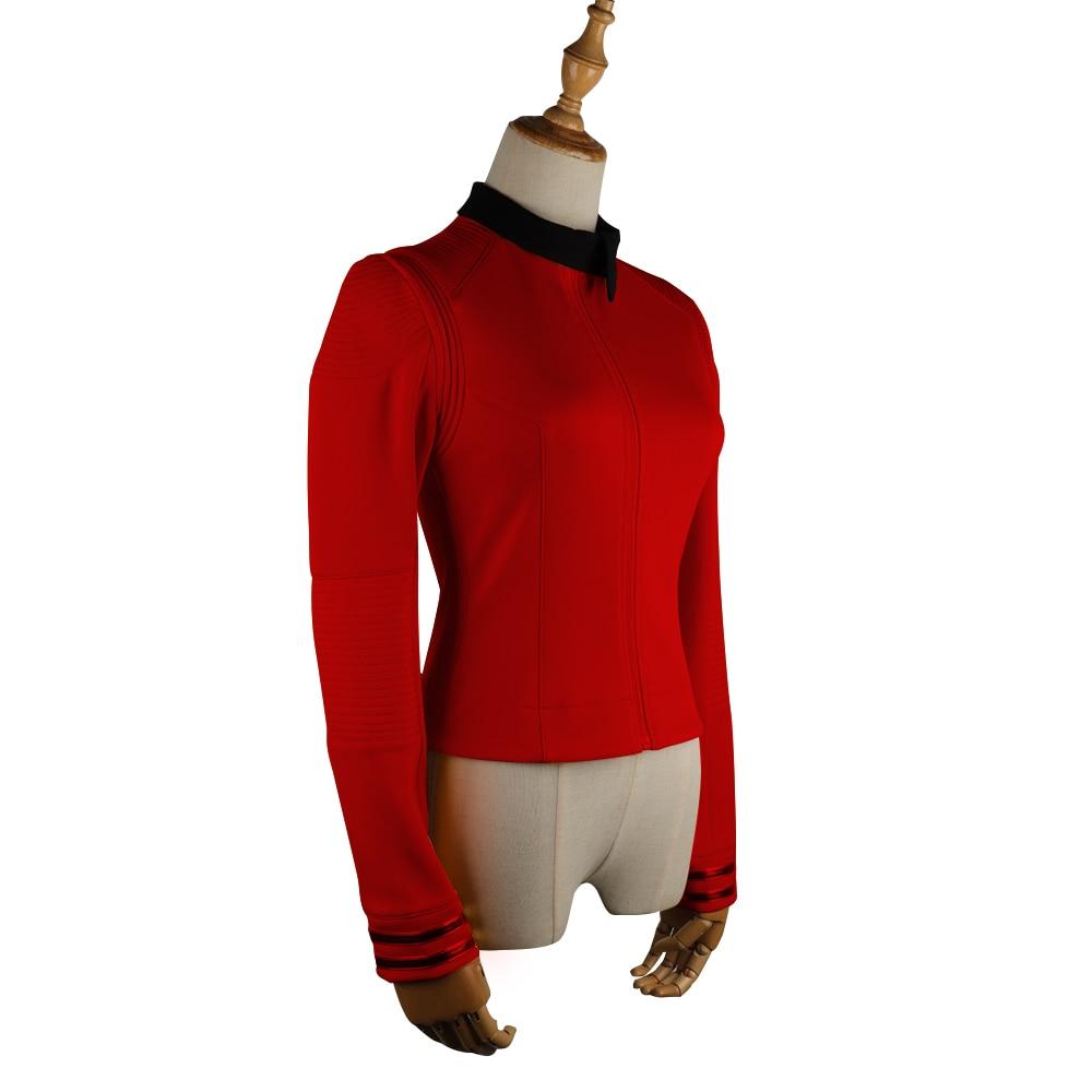 New Star Trek Discovery Season 2 Costume Female Top Starfleet Commander Uniform with Badge Woman Costumes Adult Cosplay Costume (7)