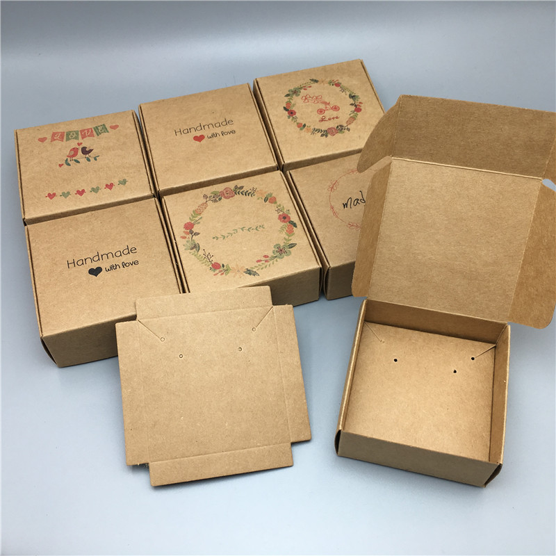 Paper Cardboard Aircraft Gift Packing Boxes Jewelry Set Kraft Boxes Necklace Pendant Earring Displays Box