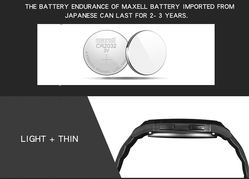 2018 Sanda Brand Sport Watch Men Luxury Electronic LED Digital Wrist Watches For Men Male 9mm Super Slim Clock Relogio Masculi 18