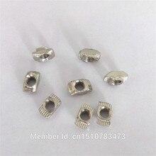 Бесплатная доставка! Reprap 3d принтер М4 алюминиевого профиля частей/аксессуары M4 T тип гайка 100 шт./упак.