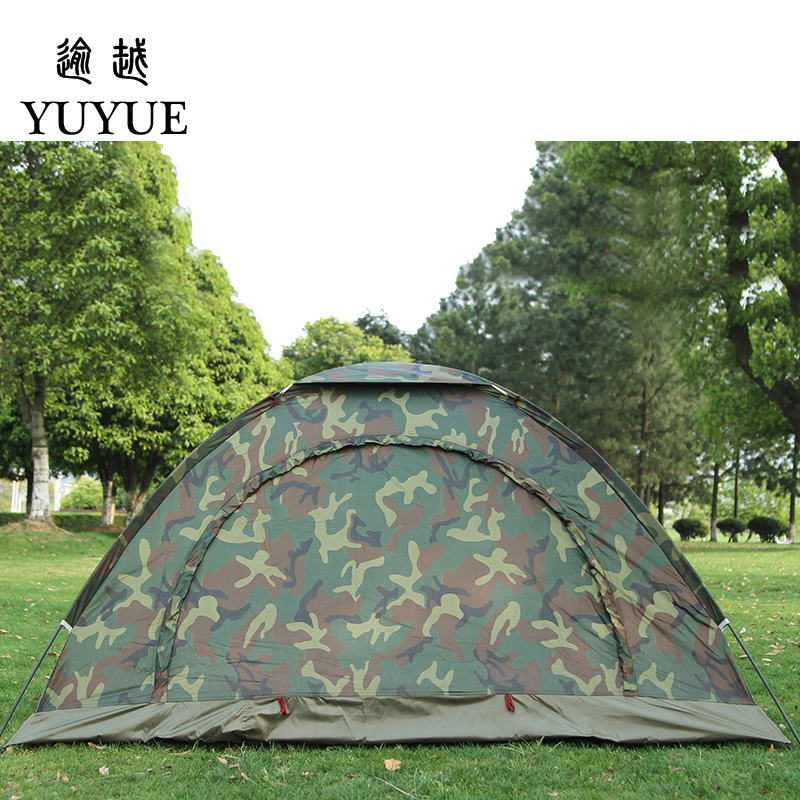 Cheap price double resident tent for outdoor mountain camouflage tent no-see-um mesh for hiking hunting camping car tent 5
