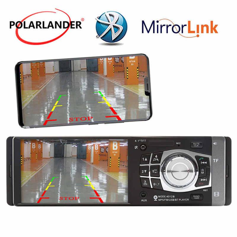 """4.1 """"1DIN ミラーリンク Android ラジオカーラジオの Bluetooth FM/USB/TF/AUX 車 MP5 /MP4 プレーヤー Autoradio ラジオカセットプレーヤー"""