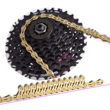 Bicycle Chain Gold 9 10 11 Speed Bike Chain 10 Speed Mountain Road Bike Chain 9S 10S 11S Ultralight 290G 116L Boxed