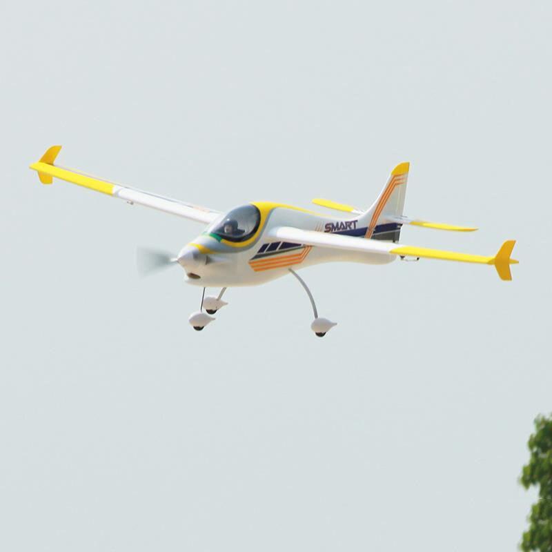 цена на Dynam 1500MM Smart Trainer RC RTF Propeller Plane W/ Motor ESC Servo Battery