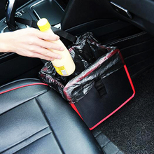 Creative Car Trash Car Garbage Non-woven fabric material car trash bin Can Portable Drive Bin Premium Hanging Wastebasket Seat