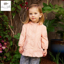 DB4452 davebella spring fashionable girls outerwear shell jacket children coat with hoodies