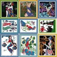 Dobry zbiorów narodowych kobiet tkaniny dmc counted haft chiński cross stitch zestawy? czna haft krzyżykowy zestaw robótki