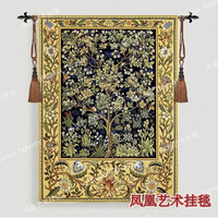 Belgium tapestry wall hanging decoration William morris tree Blue Small 89cmX68cm Home textile product H108