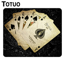 New arrival Cards poker the game digital Pattern  Durable Rubber Gaming Mouse Pad Optical Notebook Computer Mouse Mat