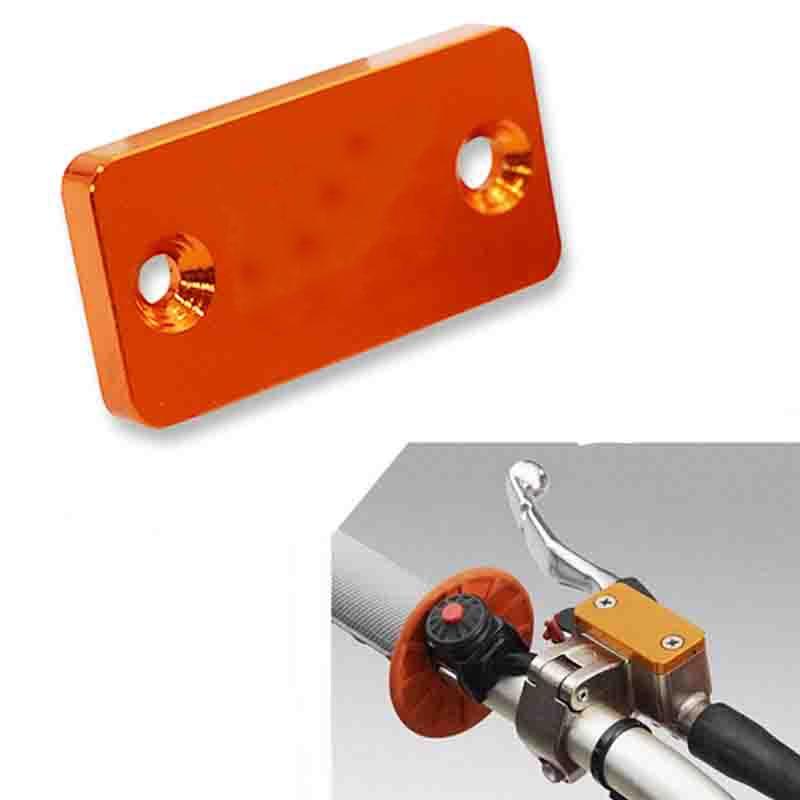 Orange CNC Aluminum Motorcycle Front Brake Fluid Reservoir Cover Cap For KTM 690 SMC/SMC-R 950 SM/ADV 990 SM/SM-T/SM-R/ADV