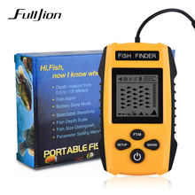 Fulljion 0.6-100M Portable Fish Finders for Fishing Carp Echo Sounder Transducer Sensor Depth Fishing Finder Carton Packaging