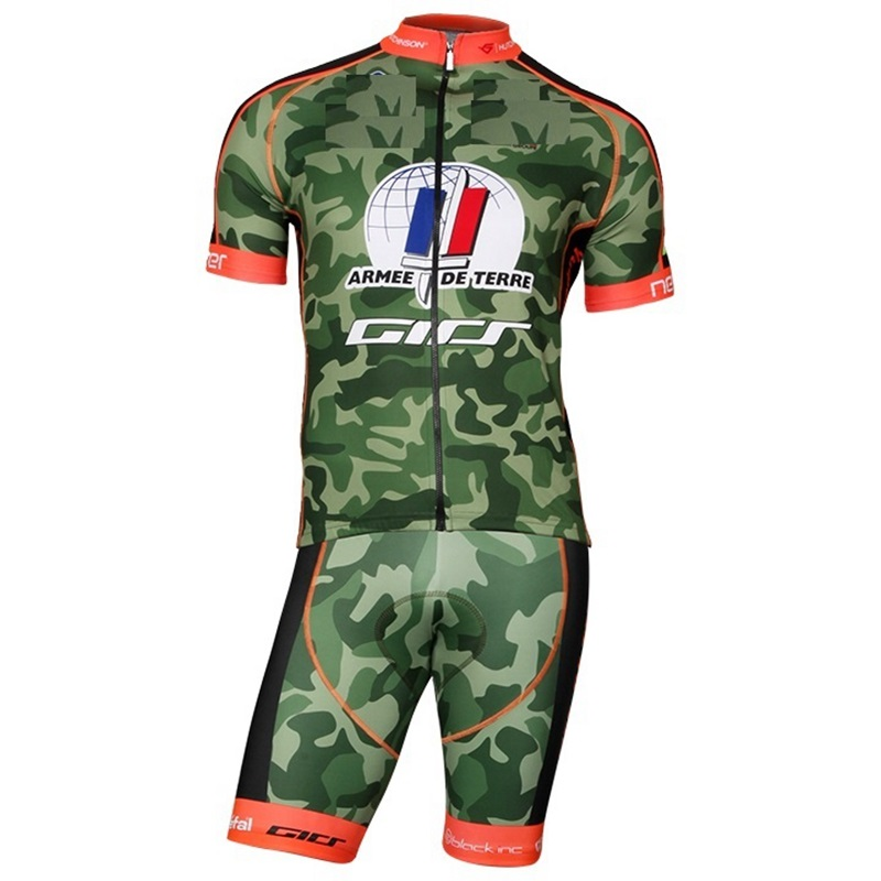 Team ARMEE DE TERRE cycling jersey 2018 Camo short sleeve Jersey Men's cycle tops maglia road bike and MTB Jersey ropa ciclismo