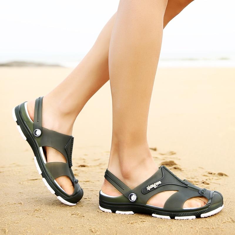 Moda Flops Libre Al Playa verde Sandalias gris azul Flip Casuales Para Zapatos Hombres Verano Aire Planos Caminar Negro tOFxwztqp