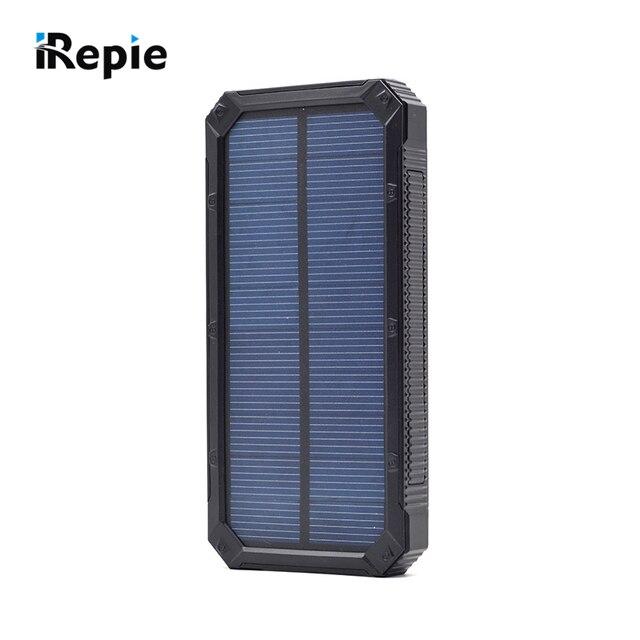 Высокое Качество Портативный 10000 мАч Solar Power Bank Водонепроницаемый Внешний Аккумулятор со СВЕТОДИОДНОЙ Подсветкой Универсальный Открытый Powerbank