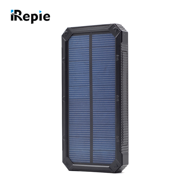 Alta Qualidade Portátil 10000 mAh Solar Power Bank Bateria Externa com Luz LED À Prova D' Água Ao Ar Livre Universal Powerbank