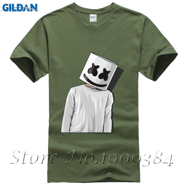 f08f18a5 Cheap Price Unique Tee Shirts Marshmello FAN ART mens t shirts Youth Short T -Shirt Crew Neck Hombre Funny Tees