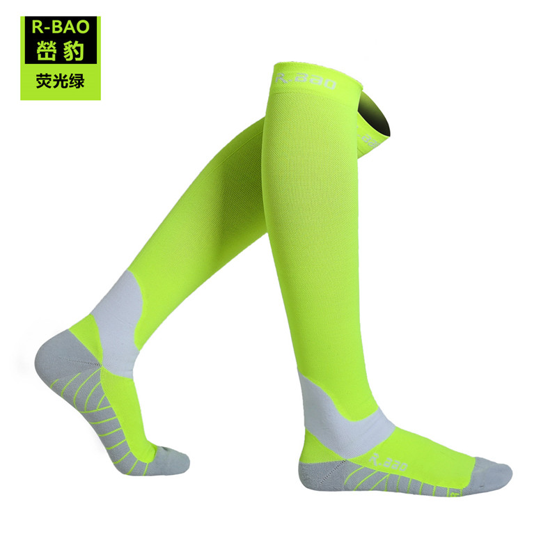 Image 3 - RB7707 R Bao Men/Women Professional Compression Running Stockings High quality Marathon Sports Socks Quick Dry Bicycle Socks-in Running Socks from Sports & Entertainment