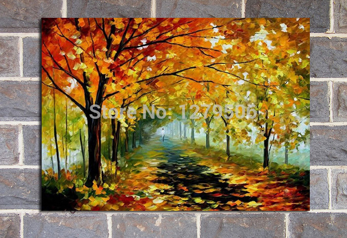 BB 100-Handpainted-Abstract-Autumn-Forest-Knife-Oil-Painting-On-Canvas-Thick-Oil-Painting-Wall-Picture-For (2)