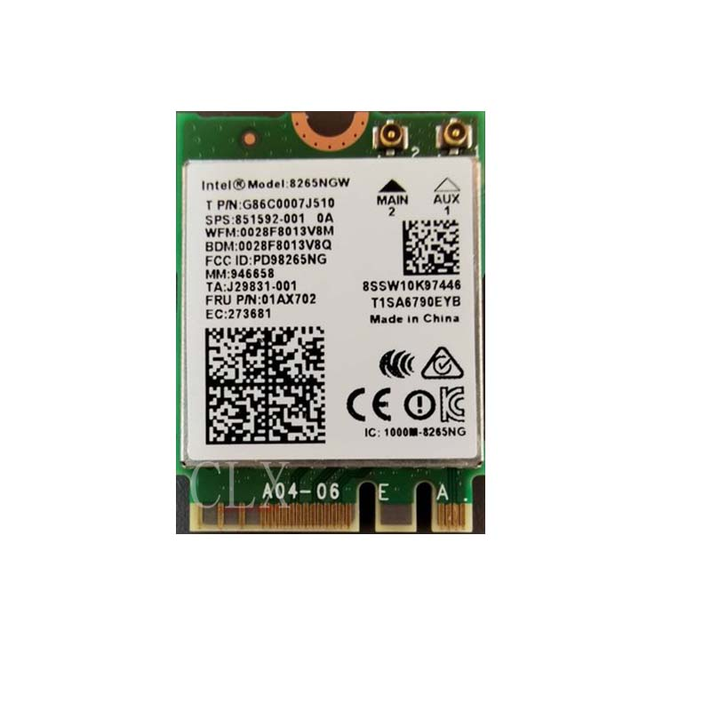 NVIDIA Jetson Nano Dedicated Wireless Network Card Intel AC8265 M.2 Interface Supports Dual-mode Bluetooth WiFi