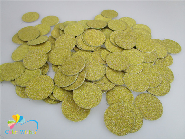 200 unidades/pacote de 3 cm = 1.2 inch Glitter Dourado Círculo Mesa Confete de Papel para Festa De Casamento Festa de Aniversário Decorações