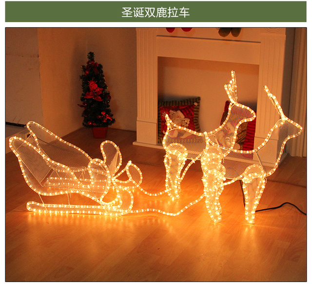 sohoxmas navidad christmas led sled style lamp folding b203 christmas sled decorations christmas sleigh