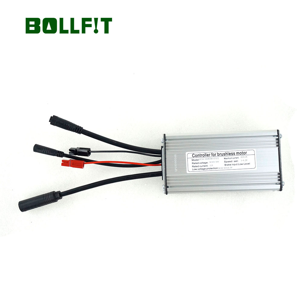 BOLLFIT ebike Controller 36 48V 22A 9 Mosfets Light Function Whole Water Proof Plug KT kunteng