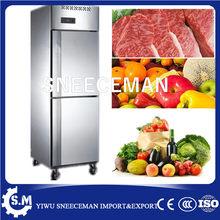 Restaurante comercial Aço Inoxidável 2 Porta Upright Frigorífico Congelador/freezer industrial