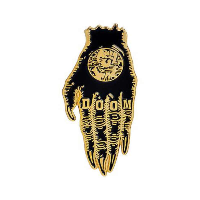 300f3abf29f ... Hands Of Doom Satan Sees All Coffin Creep Hard Enamel Pin Lapel Pins  Horror Jewelry Gothic