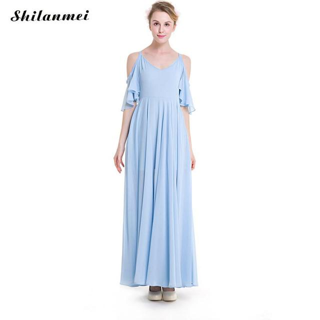 5b7e3e2ba21 Simple Solid Off Shoulder Woman Casual Summer Beach Chiffon Maxi Dresses  Plus Size Loose Style Female Transparent Vestidos