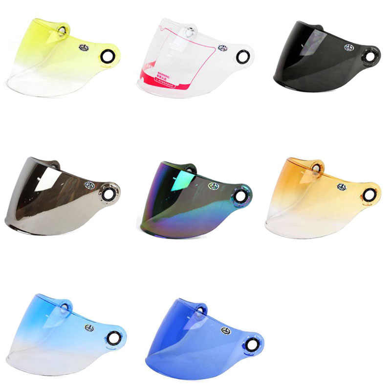 YOHE demi-visage moto casque lentille visière YH-836 YH-837 universel original lentilles visières en PC
