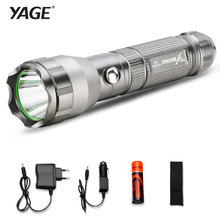 Lights Lighting - Portable Lighting - YAGE 332C CREE Waterproof Tactical Led Flashlight With 1*18650 Battery+Car Charger Self Defense Rechargable Torch Lanterna